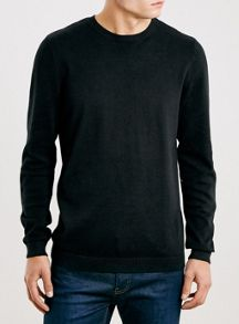 Topman Black essential crew