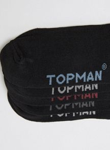 Topman 5 pack plain socks