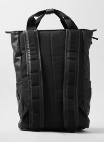 Topman Leather look rucksack