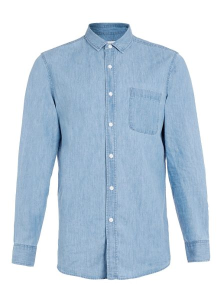 Topman Long sleeve denim casual shirt
