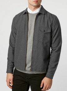 Long sleeve zip through overshirt