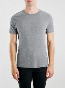 Textured ribbed t-shirt
