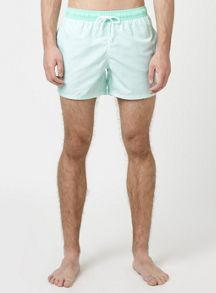 Topman Green Stripe Swim Shorts