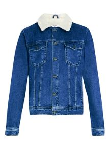 Topman Mid-wash denim jacket