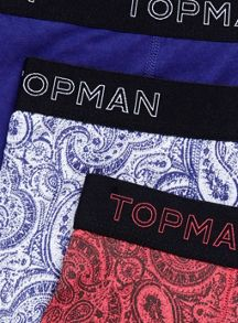 Multi paisley 3 pack underwear