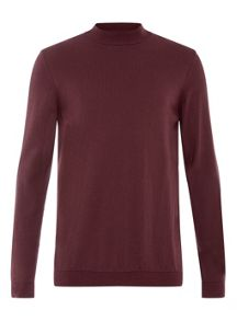 Topman Burgundy Turtle Neck