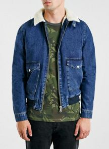 Topman Denim flight jacket