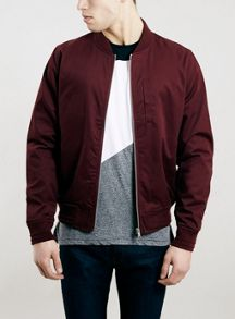 Topman Cotton bomber zip through