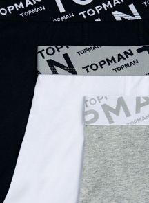 Topman 3 Pack Plain Underwear