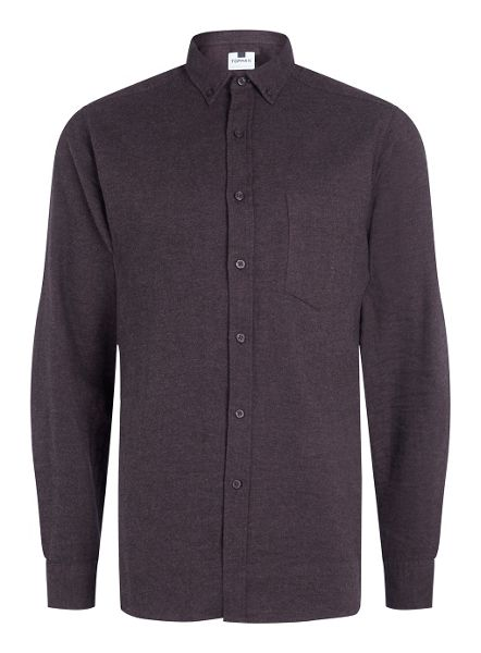 Topman Long sleeve brushed twill stand collar