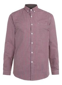Topman Long sleeve gingham smart shirt