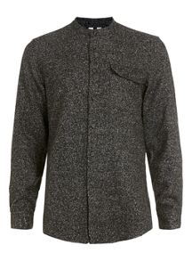 Topman Long sleeve stand collar shirt