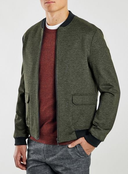 Topman Jersey tailored bomber