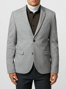 Topman Salt and pepper jersey blazer