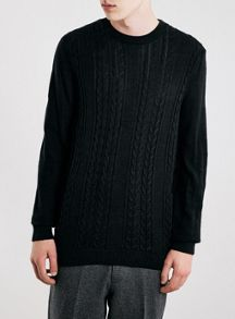 Topman Black Gunther Jumper