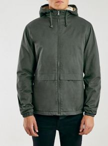 Topman Hooded jacket borg lined