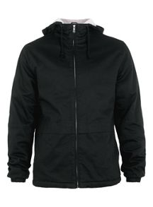 Hooded jacket borg lined