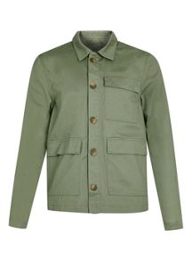 Topman Ltd core waxed utility jacket