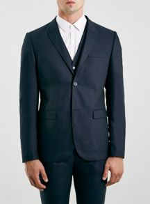 Topman Skinny fit suit jacket with peak lapel