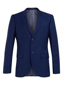 Topman Skinny fit suit jacket with topstitch