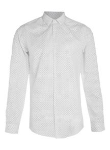 Topman Long  sleeve dot shirt