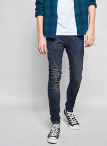 Topman Dark wash spray on skinny jeans