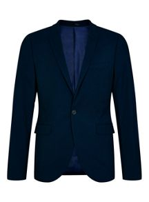 Topman Ultra skinny fit textured suit jacket
