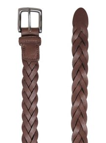 Topman Leather Plait Belt