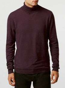 Topman Twist roll neck jumper