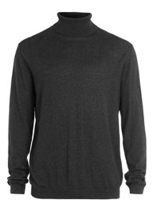 Topman Essential marl roll neck jumper