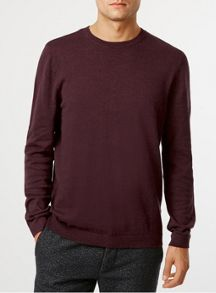 Topman Essential marl crew neck jumper