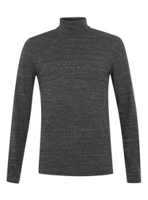 Topman Long sleeve rib roll neck