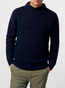 Topman Fisherman design crew neck jumper