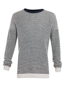 Topman Ltd core fisherman stripe crew