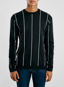 Topman Black Stripe Jumper
