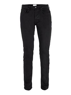 Coated stretch slim jeans
