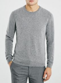Topman Premium folded crew contains cashmere