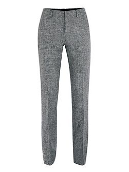 Skinny fit textured suit trousers