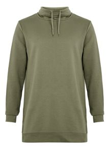 Long sleeve funnel neck sweat