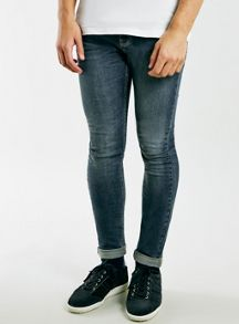 Topman Vintage wash spray on skinny jeans