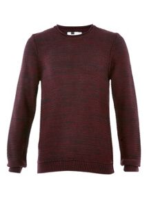 Topman Rib bagel neck jumper