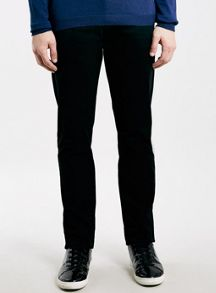 Topman Black stretch slim chino