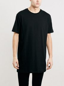 Long line slim fit t-shirt