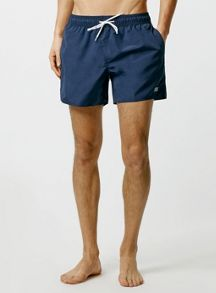 Topman Navy Swim Shorts