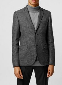 Topman Warm handle textured skinny fit blazer