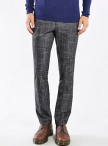 Topman Digital check skinny fit trousers