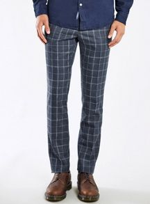 Topman Window check skinny fit trousers