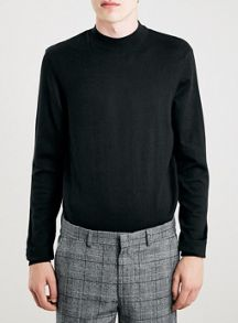 Topman Black Turtle Neck
