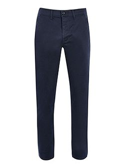 Navy stretch slim chino