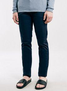 Topman Navy stretch slim chino